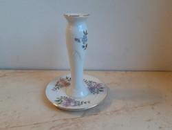 Zsolnay porcelán gyertyatartó, virágos