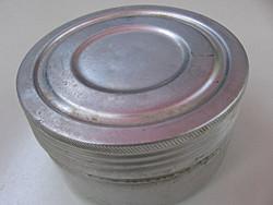 FTM retro alumínium doboz üveg betéttel