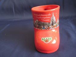 Szép Karácsonyi piros csizma alakú bögre festett pohár