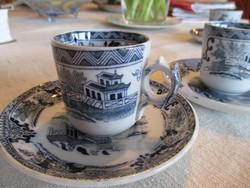 Antik Villeroy@Boch Wallerfangen kávéscsészék alátéttel, 2 szett