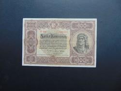 100 korona 1920 A 006 Szép ropogós bankjegy !