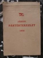Járási Pártértekezlet 1958 - jegyzettömb