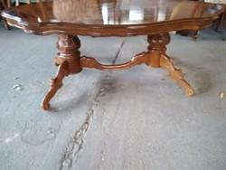 Barok dupla póklábú asztal 140x78x54cm magas