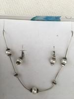 Ezüst nyaklánc, nyakék és fülbevaló szett (Silpada)