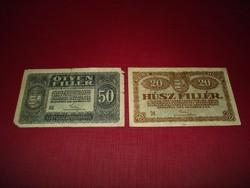 50 és 20 Fillér-1920