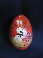 Régi Húsvéti piros tojás csörgős tojás