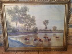 Lakos Alfréd olaj / vászon festmény