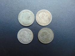 4 darab ezüst 10 krajcár LOT !