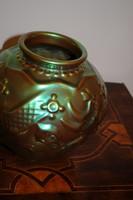 Zsolnay madaras váza - eozin mázas. Hibátlan, jelzett!