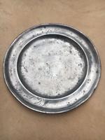 Antik monogramos ón tányér 1710- ből,szép állapotban