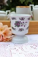 Ibolya virágos  talpas pohár