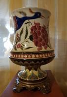 Zsolnay Júlia porcelán váza lámpa kerámia petróleum