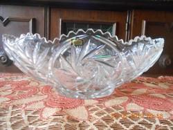 Ólomkristály asztalközép, nagyméretű. Súlya 2,295 kg