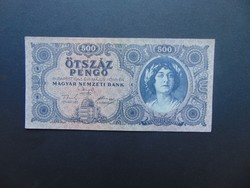 500 pengő 1945 K 017 Hibás N betű !