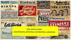 2001 május  /  ÖKM  /  Régi ÚJSÁGOK KÉPREGÉNYEK MAGAZINOK Szs.:  5140