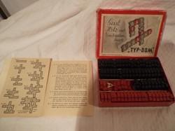 Játék - szókirakó - műanyag - retro - Osztrák - betűméret 2 x 2 cm