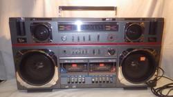 Audiosonic TBS-1133 dupla kazettás magnós rádió retro