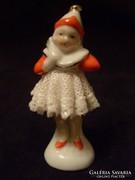 Altwien filigran antik hab porcelán kislány ritkaság