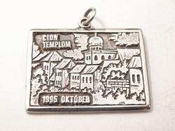 'Cion templom 1995 október',Nagyvárad.Ezüst medál/függő.
