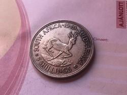 1949 Dél-Afrikai ezüst 5 schilling 28,3 gramm 0,800