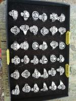 Halál fejes gyűrűk 36 db eladó ezüst színben