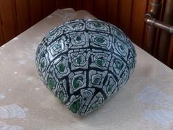 Gorka Géza kerámia, különleges formájú fali kaspó, hibátlan