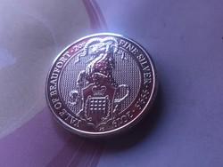 2019 Yale of beaufort Britt 2 uncia 0,999 ezüst érme