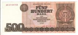 500 márka 1985 NDK Németország UNC