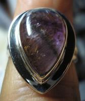 925 ezüst gyűrű 17,9/56,2 mm, cacoxenittel