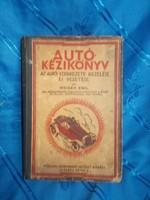 Autó kézikönyv weiner emil 1928