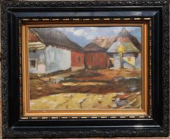 Nagybányai festő: Utcarészlet