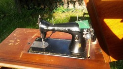 Antique gentle pedal, foot-operated singer sewing machine