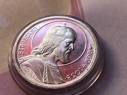 Szt István ezüst 5 pengő,gyönyörű verdefényes kapszulában