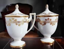 1884-96 közt készült Empire Ó Herendi fedeles porcelán csésze-ritkaság
