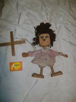 Retro marionett bábú fából - fiú