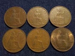 Anglia - Erzsébet királynő One Penny évszám gyűjtemény/id 7763/