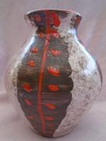 Antik  iparművész kerámia váza DM jelzéssel zsürizett hibátlan alkotás