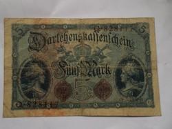 Német 5 márka 1914