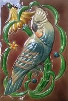 Szecessziós MEISSENI porcelán csempés kék színű cserépkályha 230 cm