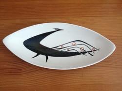 Drasche gyönyörű art deco jelzett pávás tálka