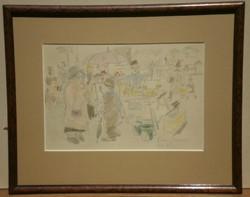 Végh Gusztáv (1889-1973) : Piac (Szénatér)