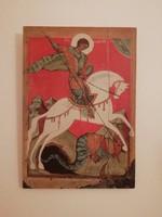 Sárkányölő Szent György  orosz vászon nyomat