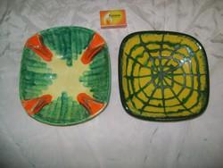 Retro kerámia tál, asztalközép - két darab