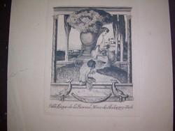 2 gyönyörű Bayros heliogravure - ex-libris erotika art nouveau