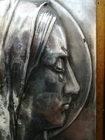 Mária és Jézus dombormű párkép
