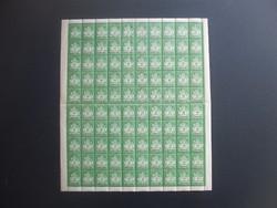 100 darab 20000 adópengő bélyeg ív
