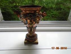 Réz sokköves dísz szamovár-15,5 cm