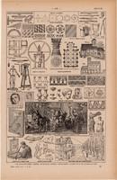 Tervezés, terv, nyomat 1923, francia, 19 x 29 cm, lexikon, eredeti, rajz, tervrajz, építészet