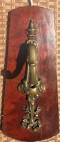 Antik klasszicista bronz falikar búrával