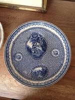 Antik Bonn fajansz nagy méretű tányér 27,5cm
